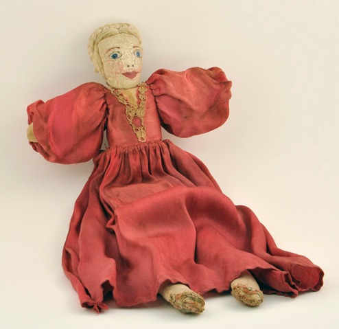 cloth doll made circa 1910